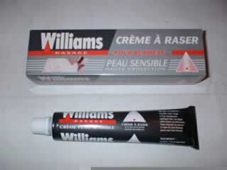Creme a raser Williams